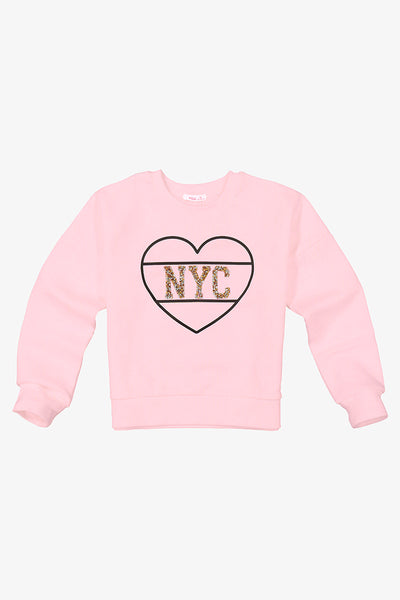 FOX KIDS Girl Printed Sweater with Glitter Detail