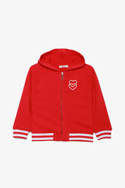 FOX KIDS Girl Hooded Jersey Jacket