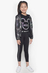 FOX Kid Girl Holographic Chrome Hooded Jacket