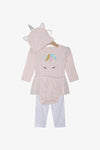 FOX Newborn & Baby 3-Piece Pastel Unicorn Set