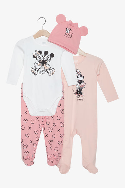 FOX Newborn & Baby 4-Piece Baby Girl Set
