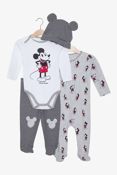 FOX Newborn & Baby 4-Piece Mickey Mouse Set
