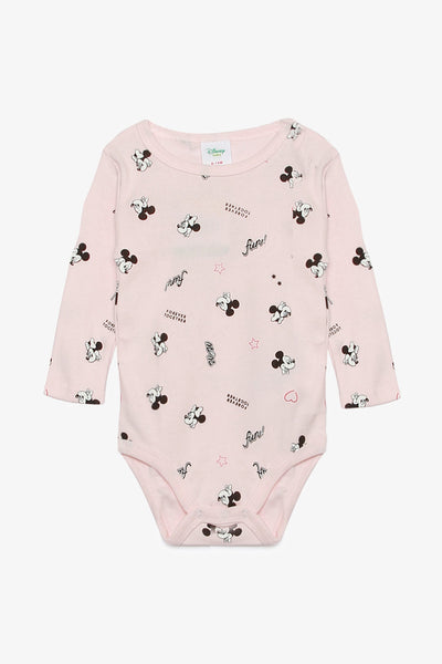 FOX NEWBORN Minnie Mouse Long-Sleeved Bodysuit