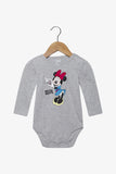 FOX Newborn & Baby Minnie Mouse Long Sleeve Romper
