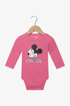 FOX Newborn & Baby Mickey Mouse Long Sleeve Romper