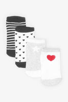 FOX KIDS Girl 4-Pack Trainer Socks