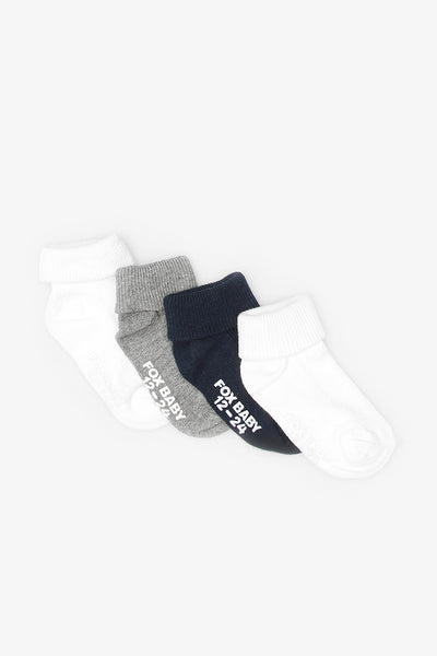 FOX NEWBORN 4-Pack Socks