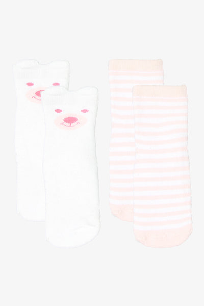 FOX NEWBORN 2-Pack Trainer Socks