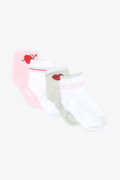 FOX BABY Girl 4-Pack Trainer Socks
