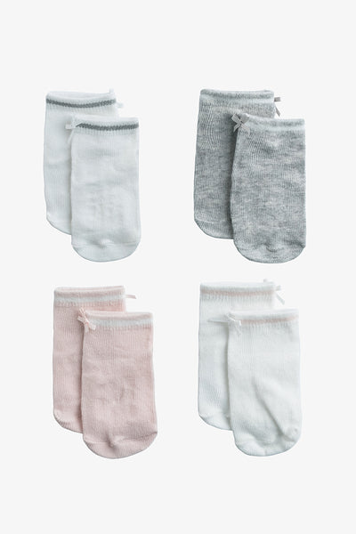 FOX BABY Girl 4-Pack Socks with Ribbon