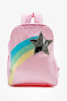 FOX BABY Girl Printed Backpack with Metallic Detail