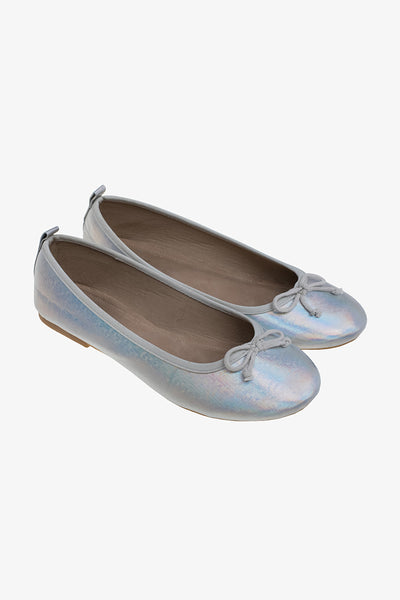 FOX KIDS Girl Metallic Slip-On Shoes with Bow