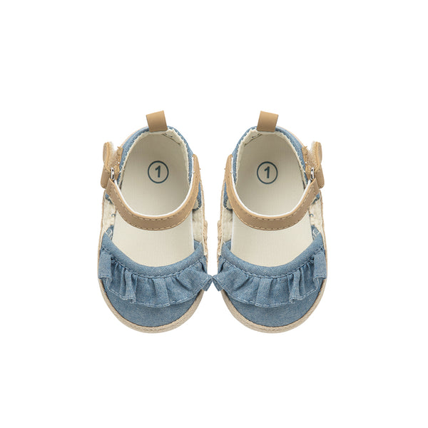 Denim Slip On with Ruffles