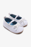FOX BABY Girl Slip-on Shoes with Bow