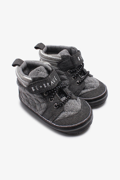 FOX BABY Boy Printed Sneakers with Quilted Detail