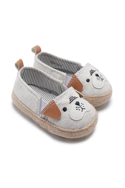 FOX BABY Girl Slip-on Shoes with Embroidery