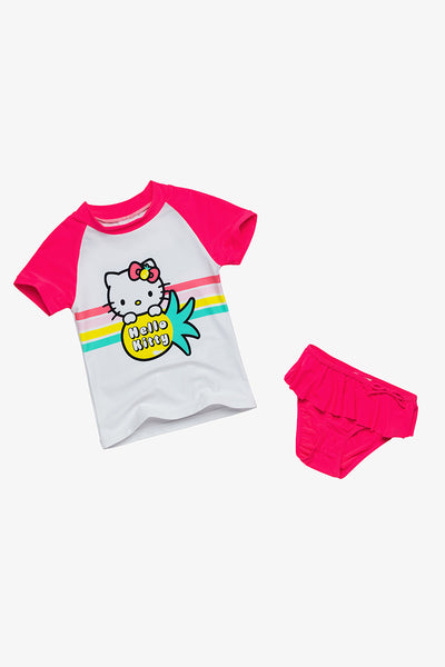 FOX BABY Girl Hello Kitty Two-Piece Swim Set