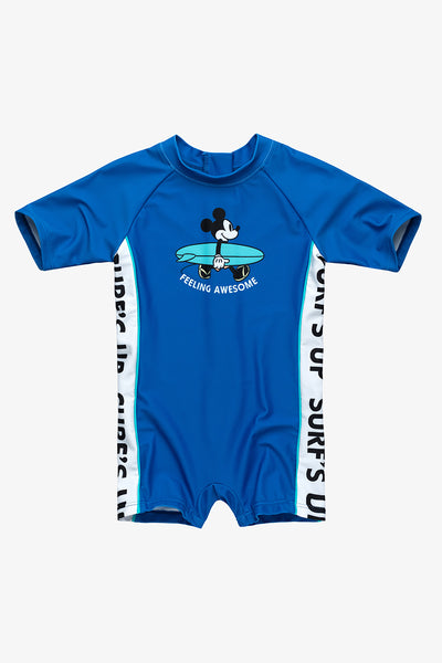 FOX BABY Boy Mickey Mouse One-Piece Swimsuit