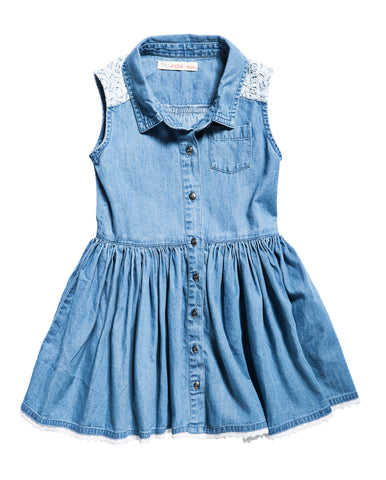 Denim Dress with Lace details