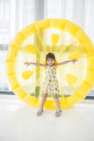 Lemon Print Spag Dress