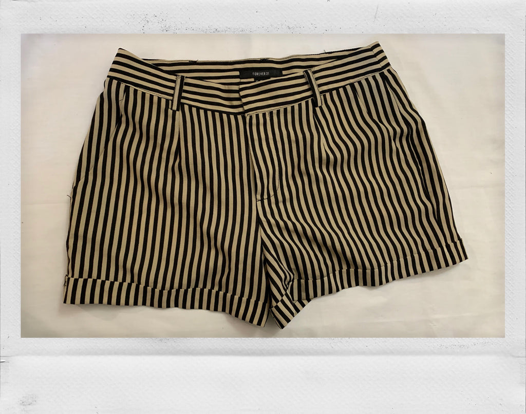 Striped Cuffed Shorts
