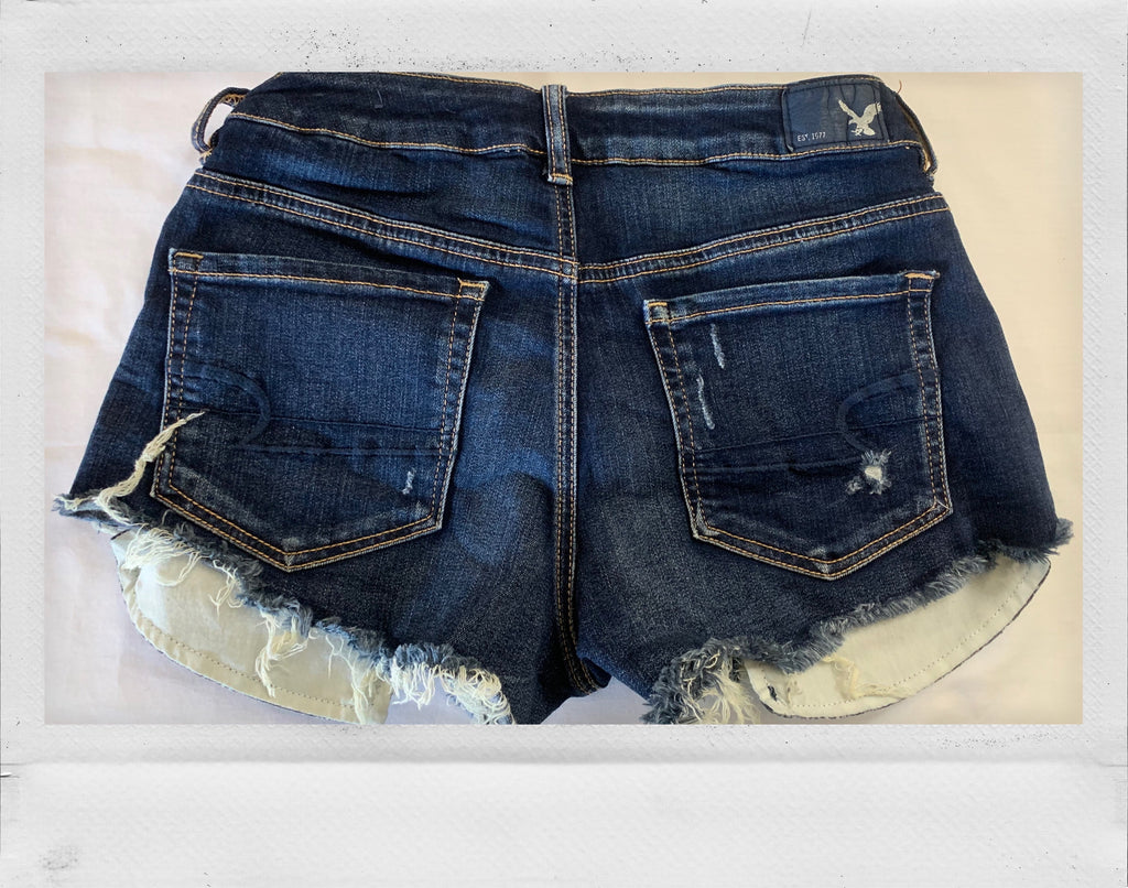Distressed Jean Short