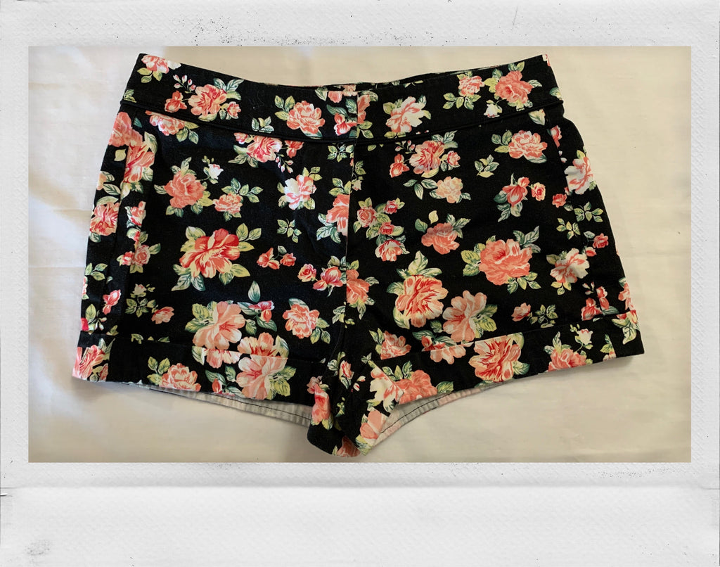 Floral Cuffed Shorts