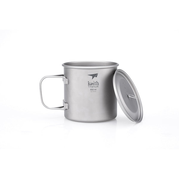 Single-Wall Titanium Mug with Lid - 3204