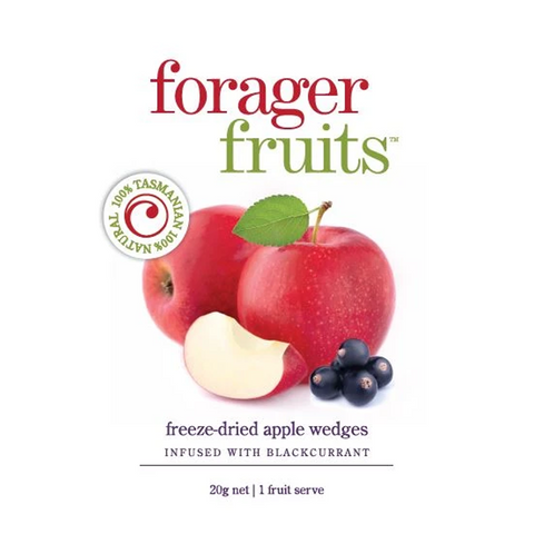 Forager Fruits - Freeze Dried Blackcurrant Infused Apple