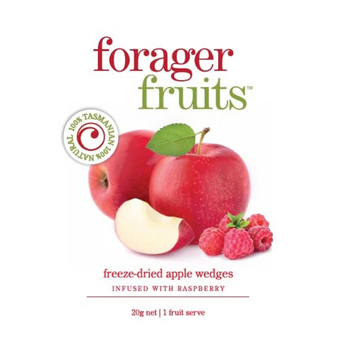 Forager Fruits - Freeze Dried Raspberry Infused Apple