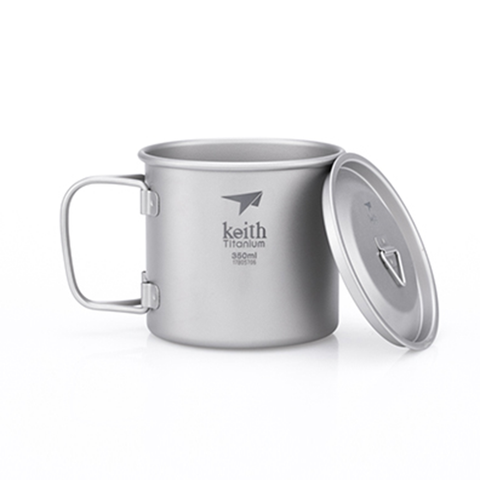 Keith - Single-Wall Titanium Mug with Lid