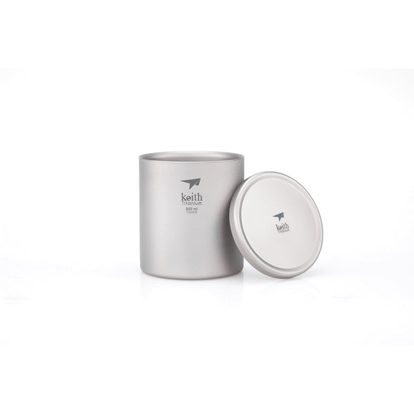 Double-Wall Titanium Mug with Lid - 3302