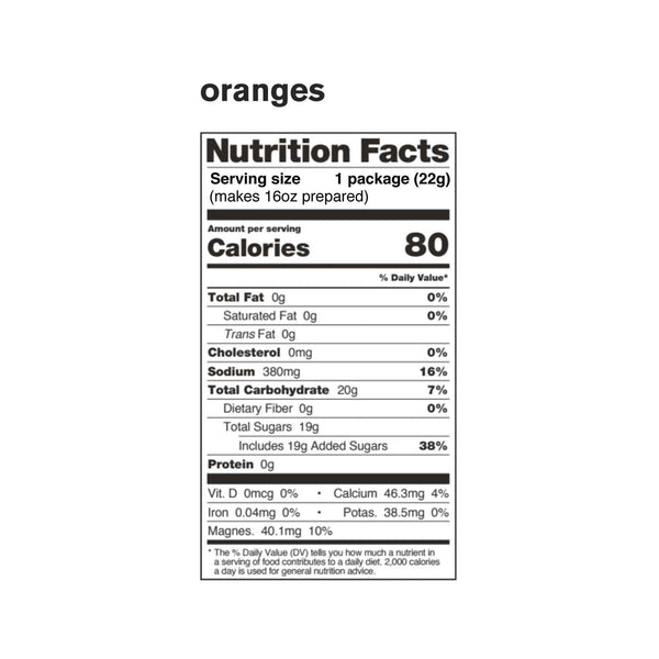 Sport Hydration Drink Mix, Oranges, Single Serving