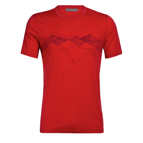 Icebreaker - Mens Tech Lite SS Crewe Peak Patterns
