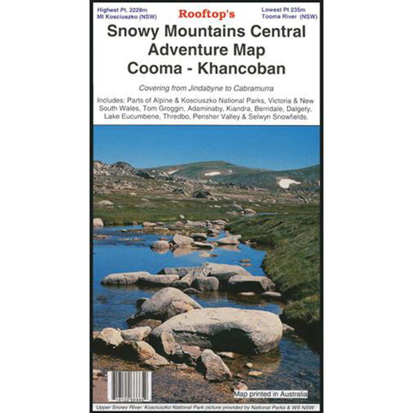 Hema Maps - Snowy Mtns Central Cooma Khancoban