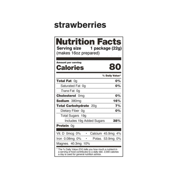 Sport Hydration Drink Mix, Strawberries, Single Serving