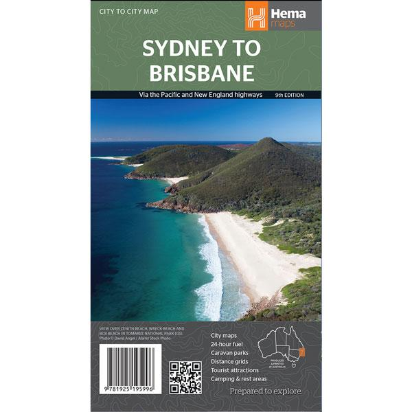 Hema Maps - Sydney to Brisbane Map