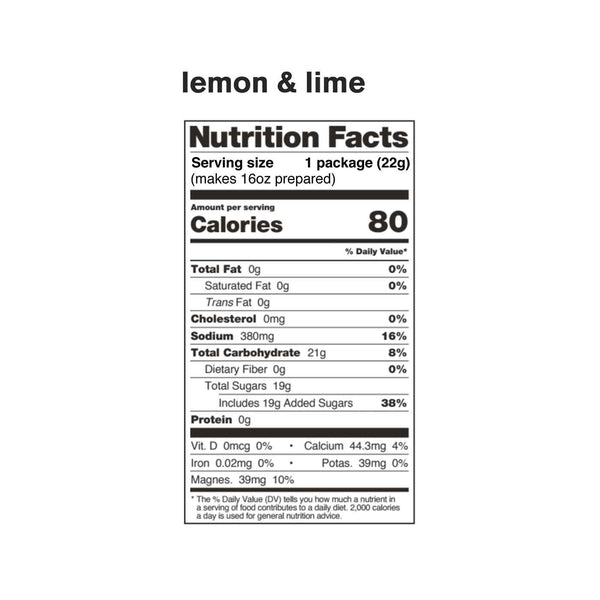 Sport Hydration Drink Mix, Lemons and Limes, Single Serving