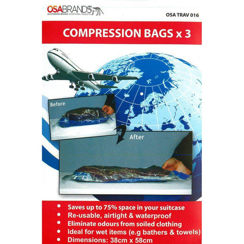 OSA Brands - Compression Bags (Pack of 3)