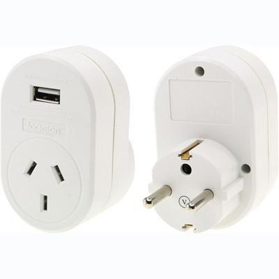 OSA Brands - Travel Adaptor with USB - Europe, Bali