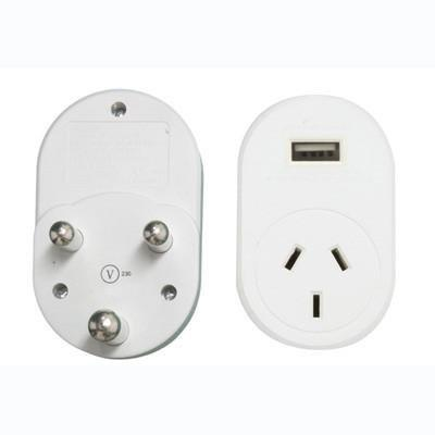 OSA Brands - Travel Adaptor with USB - South Africa, India