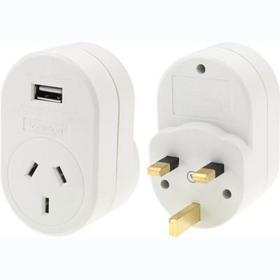 OSA Brands - Travel Adaptor with USB - UK, Hong Kong
