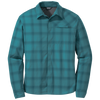 Outdoor Research Small / Washed Peacock Astroman L/S Shirt - Men's