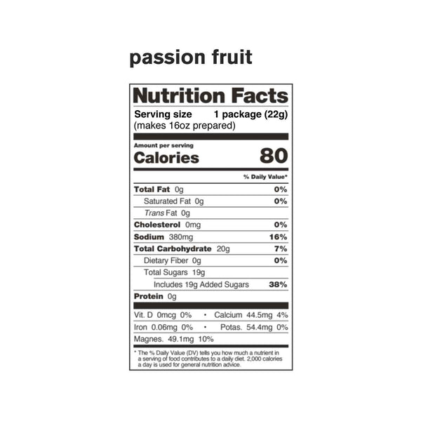Sport Hydration Drink Mix, Passion Fruit, Single Serving