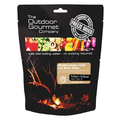 OUTDOOR GOURMET - Med Lamb With Black Olives