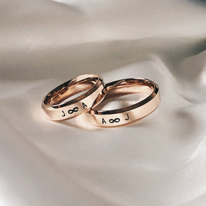 Lumiere Bevelled Couple Rings (2 Rings)