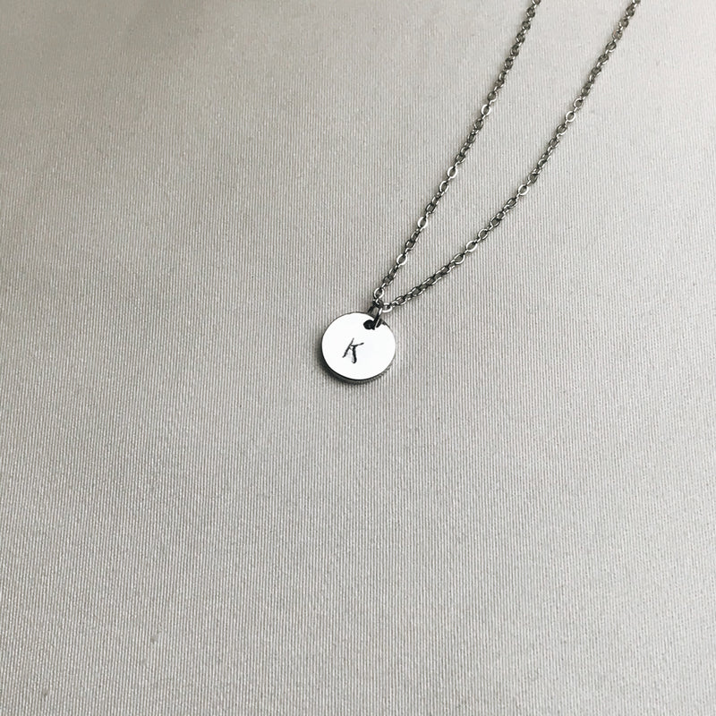 Sample Sale: Lea Initial Disk Necklace