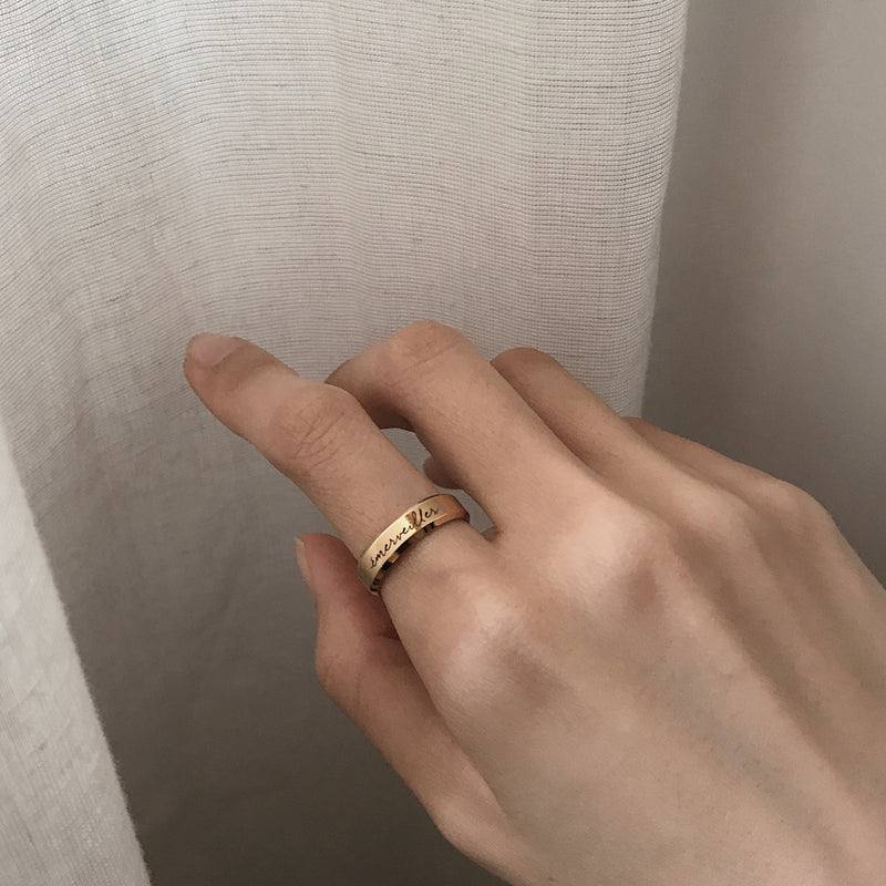 Lumière Classic Bevelled Ring (2 Rings)