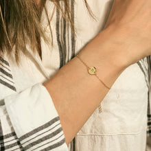Lily Initial Disk Bracelet