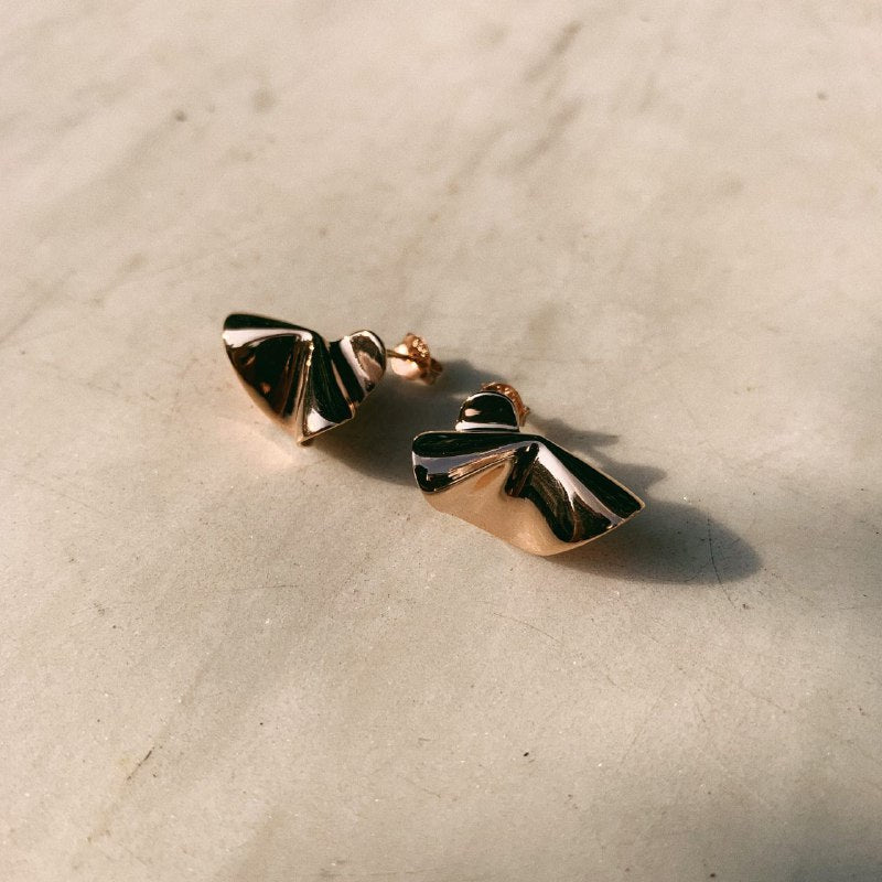 Sterling Silver Lily Petal Stud Earrings